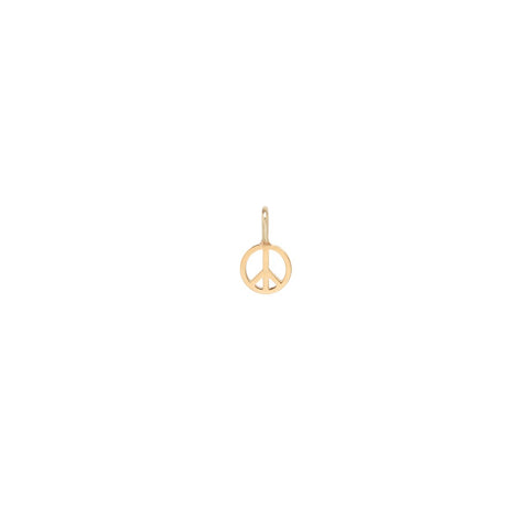 14K Yellow Gold Peace Sign Charm