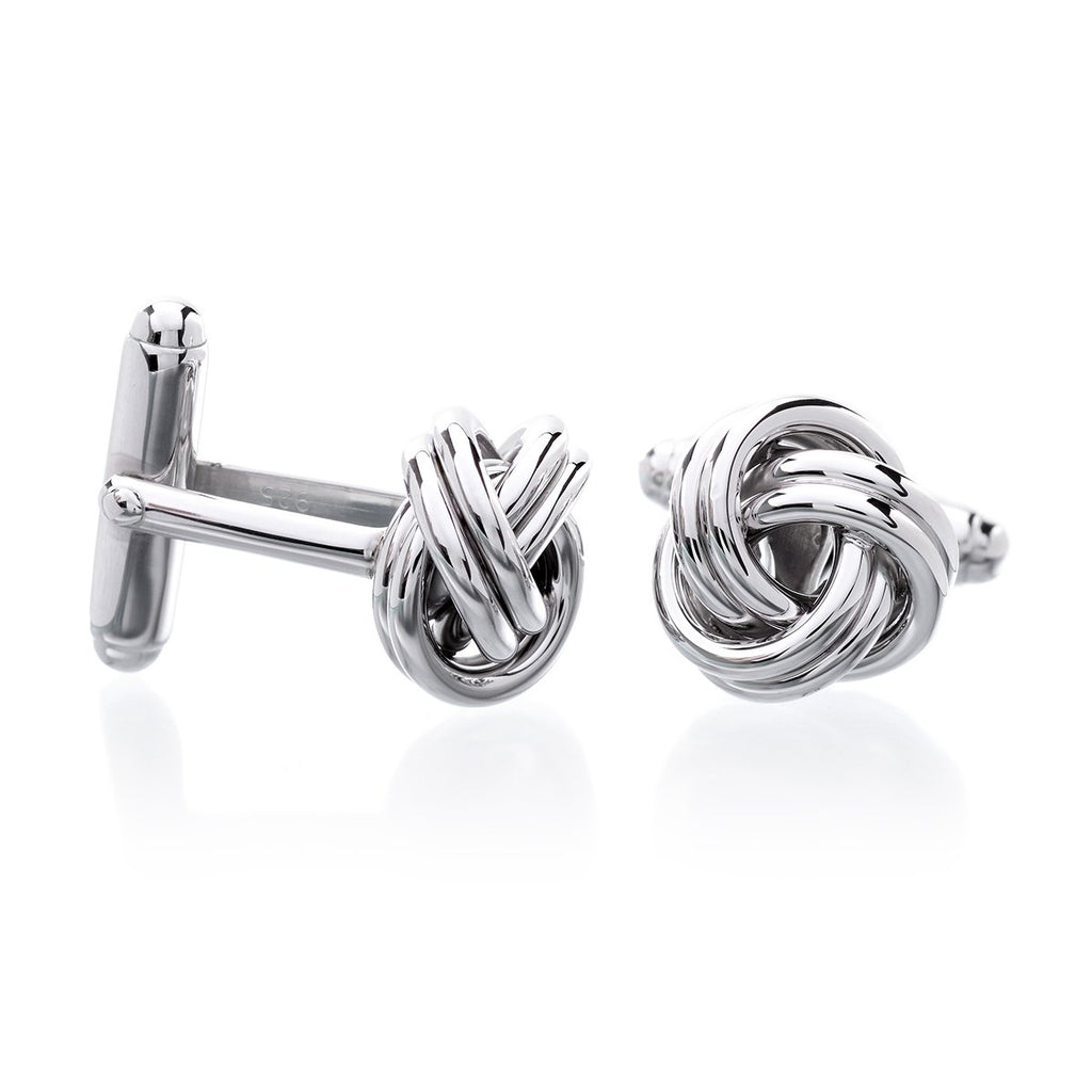 Sterling Silver Love Knot Cufflinks