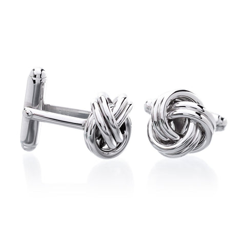 Sterling Silver Diamond Starburst Cufflinks