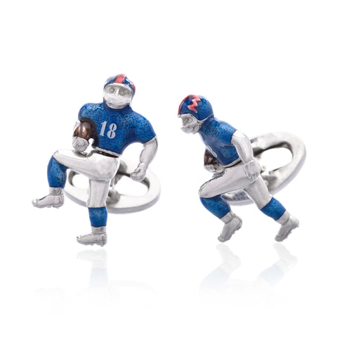 Sterling Silver Football Player Cufflinks