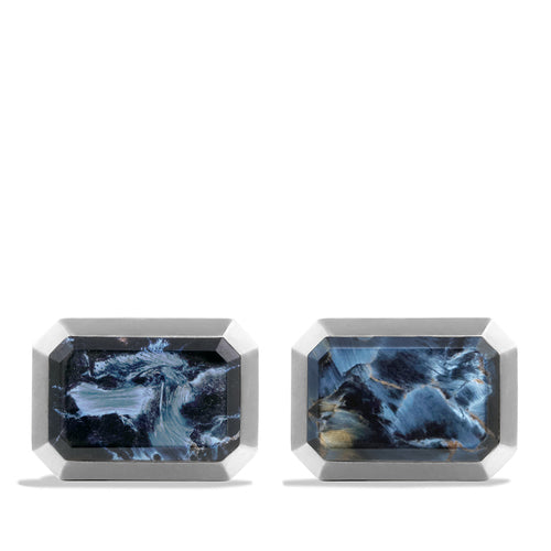 Cuff Links with Pietersite