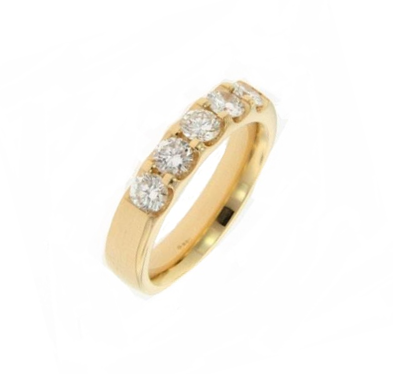 18K Yellow Gold Odessa™ Five Stone Diamond Wedding Band