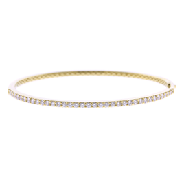Classica Parisienne 18K Yellow Gold Stirrup Link Bracelet with Diamond Accent