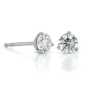 14K White Gold 1/2CTW Diamond Stud Earrings