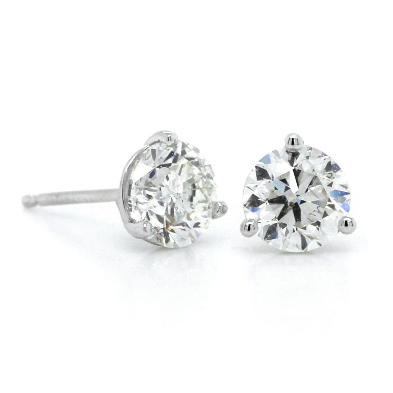 14K White Gold 1.75CTW Diamond Stud Earrings