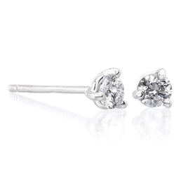 18K White Gold and Diamond Bar Cufflinks