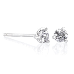 14K White Gold .25CTW Diamond Stud Earrings
