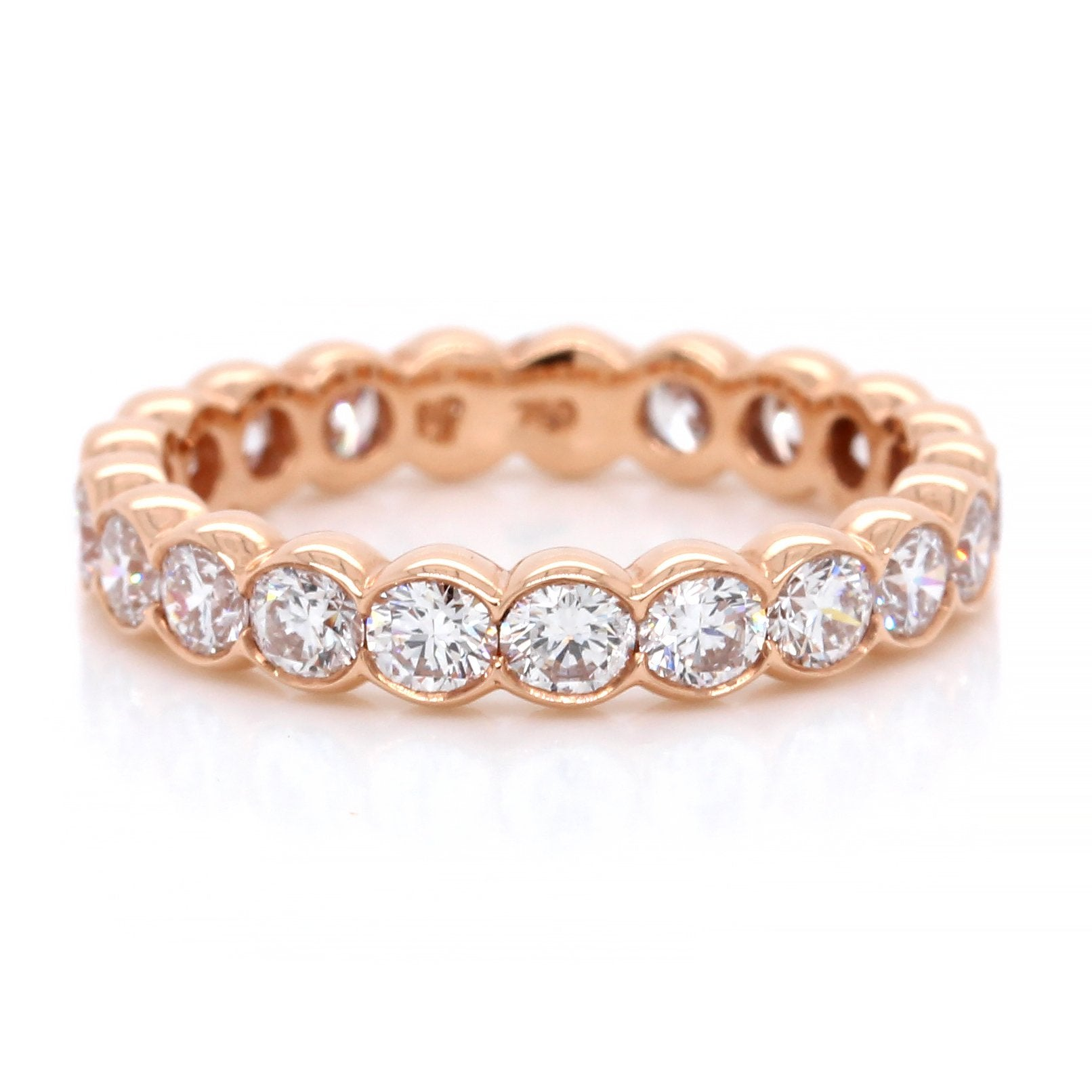 18K Rose Gold Diamond Eternity Band