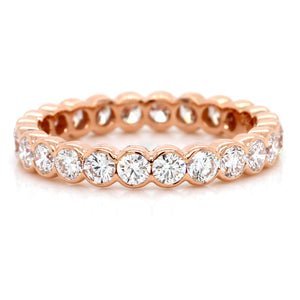 18K Rose Gold Bezel Set Eternity Band