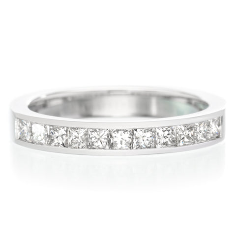 Platinum Princess Cut Channel Set Diamond Band