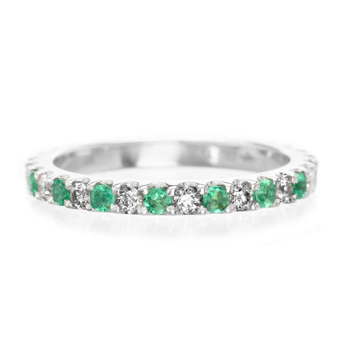 pid anniversary diamond rings bands white eternity gold gemstone band emerald and ring