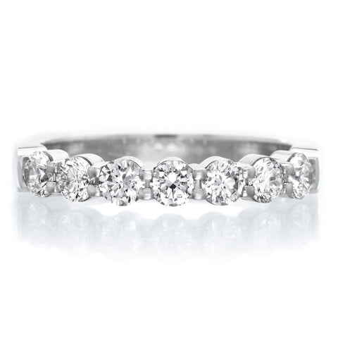 Platinum Pétite Prong® Seven Stone Diamond Band .75ctw