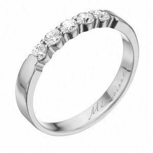 Platinum Pétite Prong® Five Stone Diamond Band 0.33 CTW