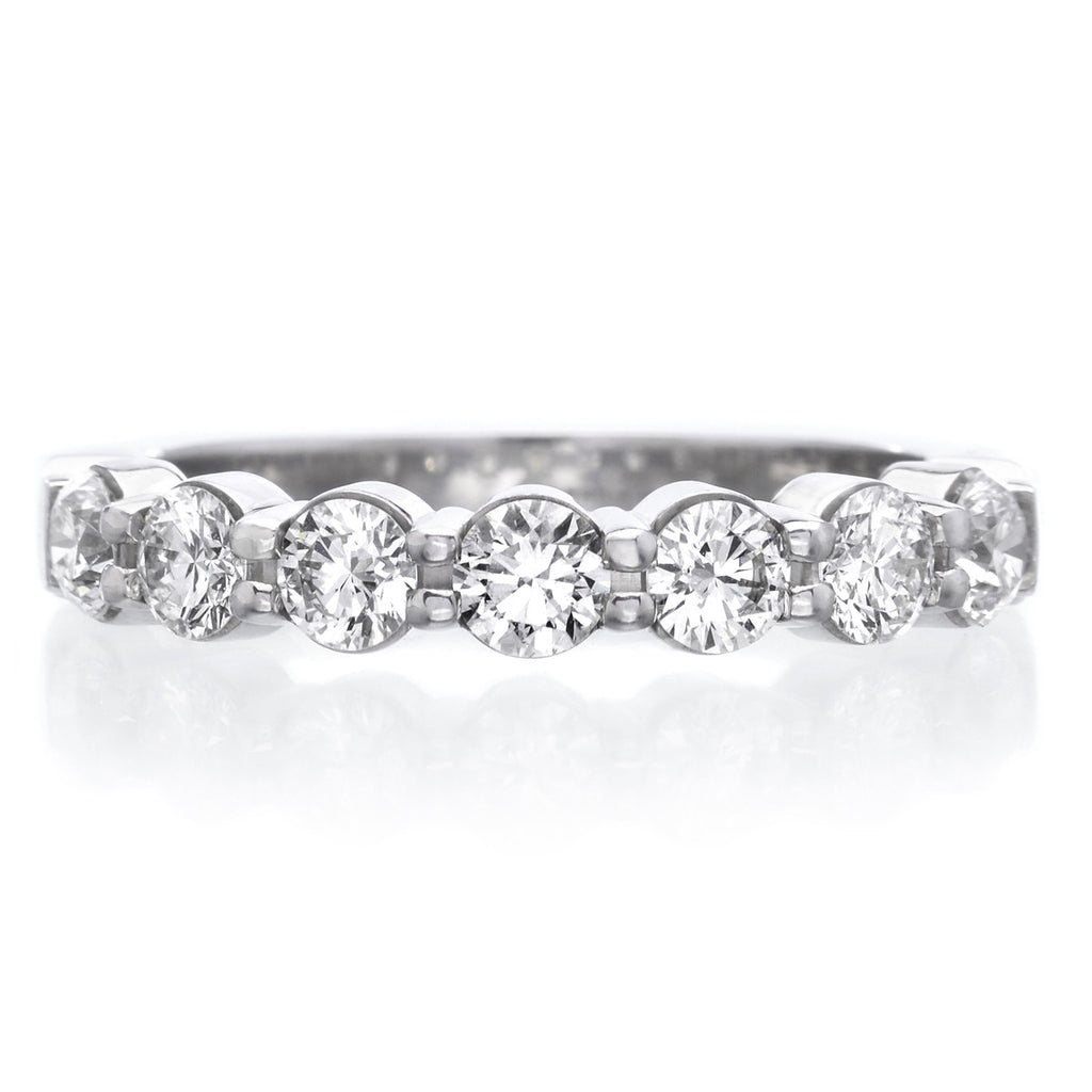 Platinum Pétite Prong® Seven Stone Diamond Band 1.00ctw