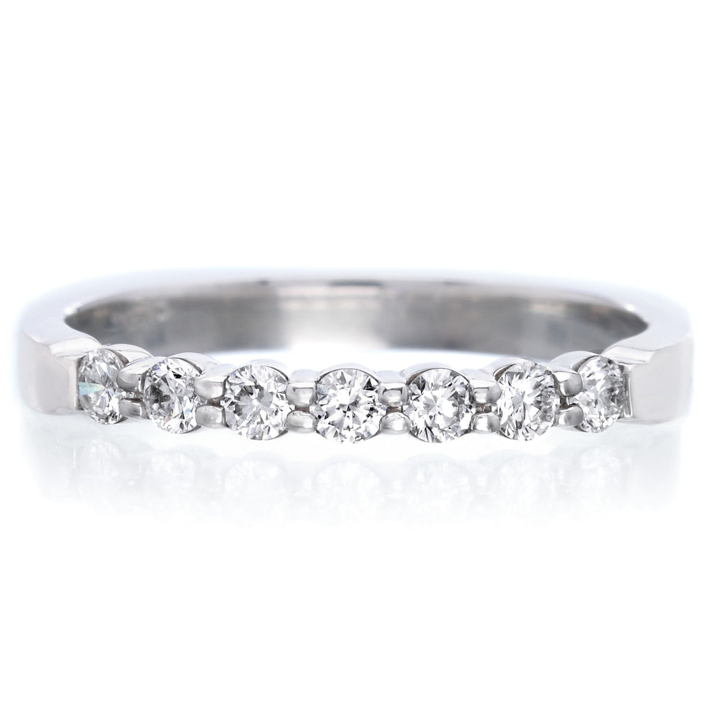 Platinum Pétite Prong® Seven Stone Diamond Band .25ctw