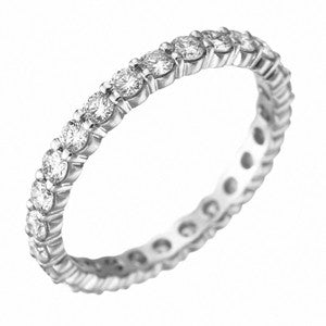 Platinum Pétite Prong® Diamond Eternity Band 0.96 CTW