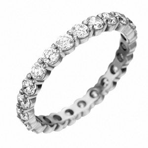 Platinum Pétite Prong® Diamond Eternity Band 1.56 CTW