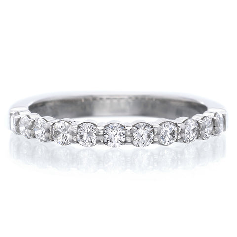 Platinum Pétite Prong® 11 Stone Diamond Band .50ctw
