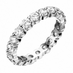 Platinum Pétite Prong® Diamond Eternity Band 2.57CTW
