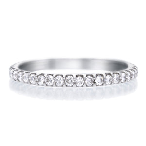 18K White Gold Shared Prong Diamond Eternity Band