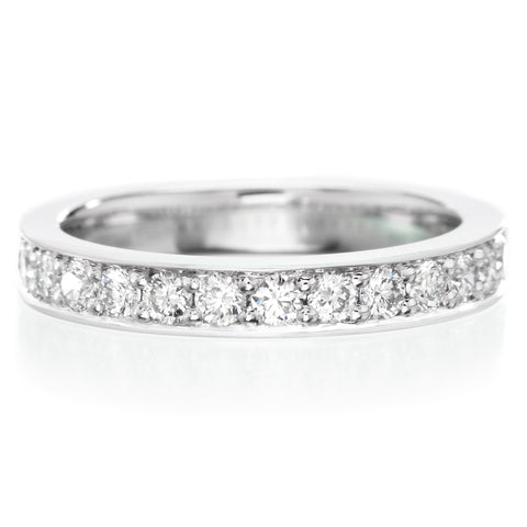 Platinum Bead Set Halfway Diamond Band