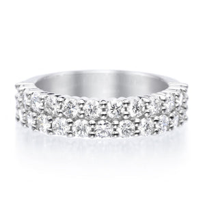Platinum Paramount Two Row Diamond Band