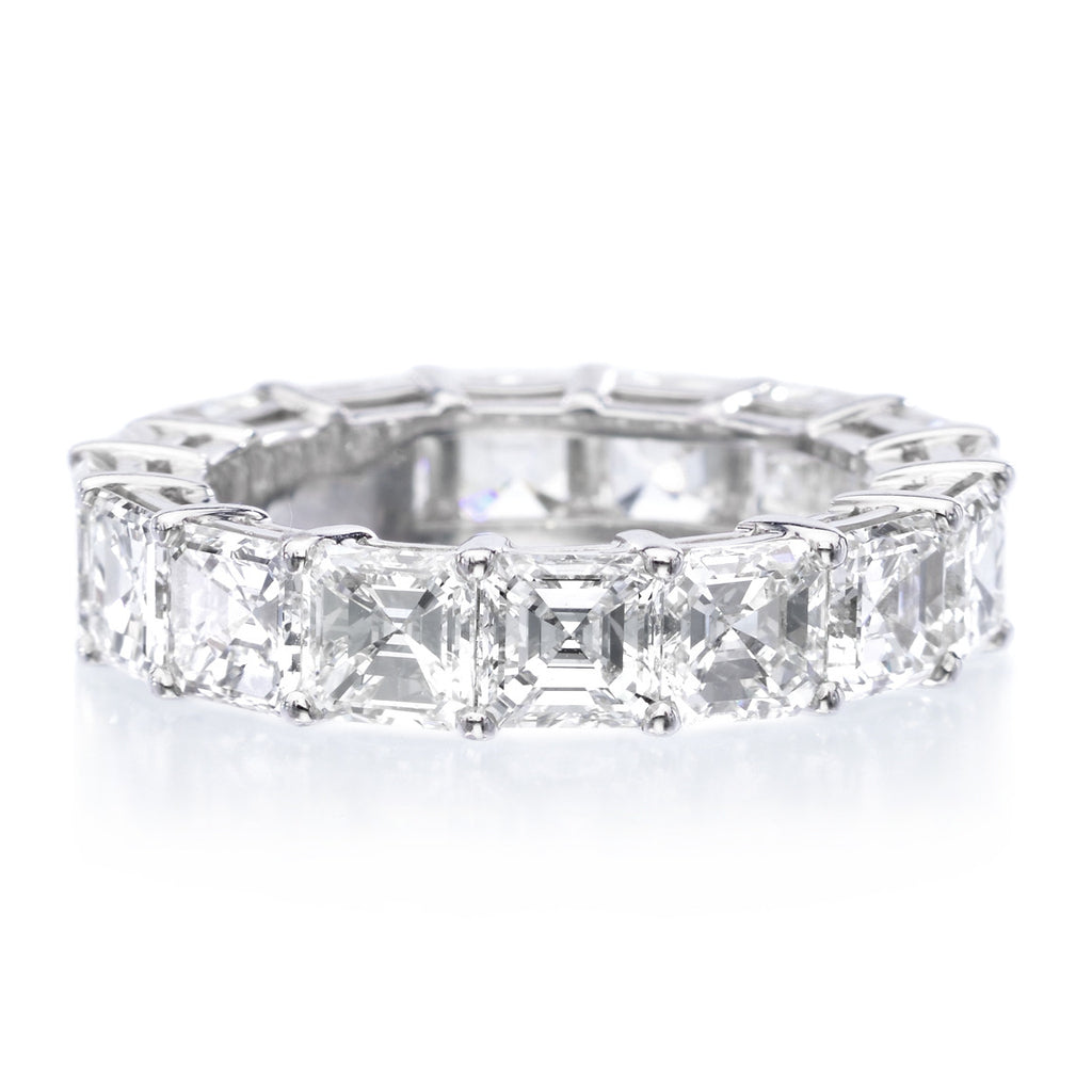 bands brilliant the diamond addiction and with emerald cut around eternity cz all stackable diamonds eve s ring band