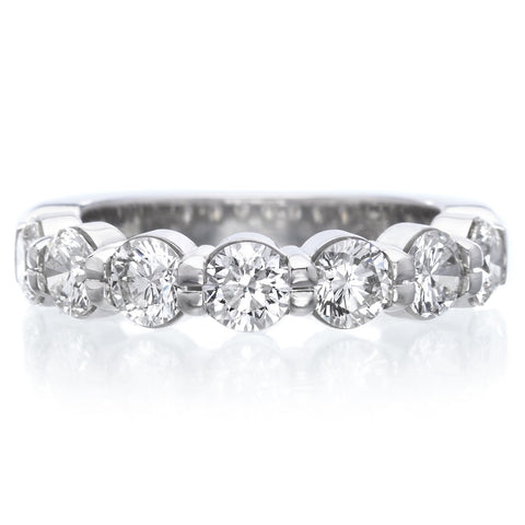 Platinum Pétite Prong® Seven Stone Diamond Band 1.54ctw