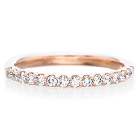 18K Yellow Gold Pétite Prong® Seven Stone Diamond Band 0.33 CTW