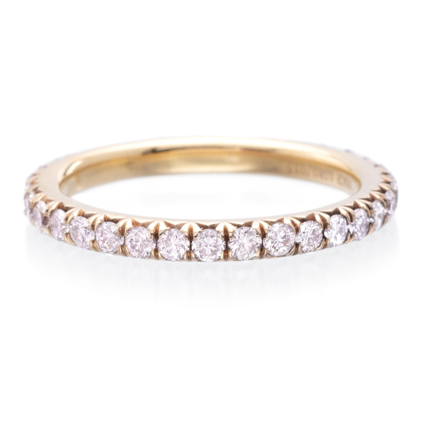 18K Rose Gold Pink Diamond Band