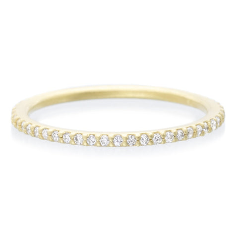 18K Yellow Gold Diamond Eternity Stacking Ring