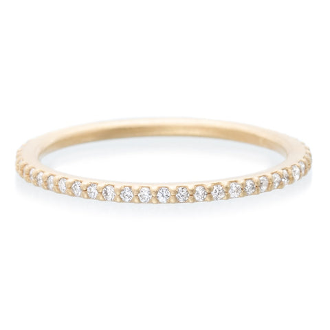 18K Rose Gold Diamond Eternity Stacking Ring