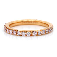 18K Rose Gold Diamond Band
