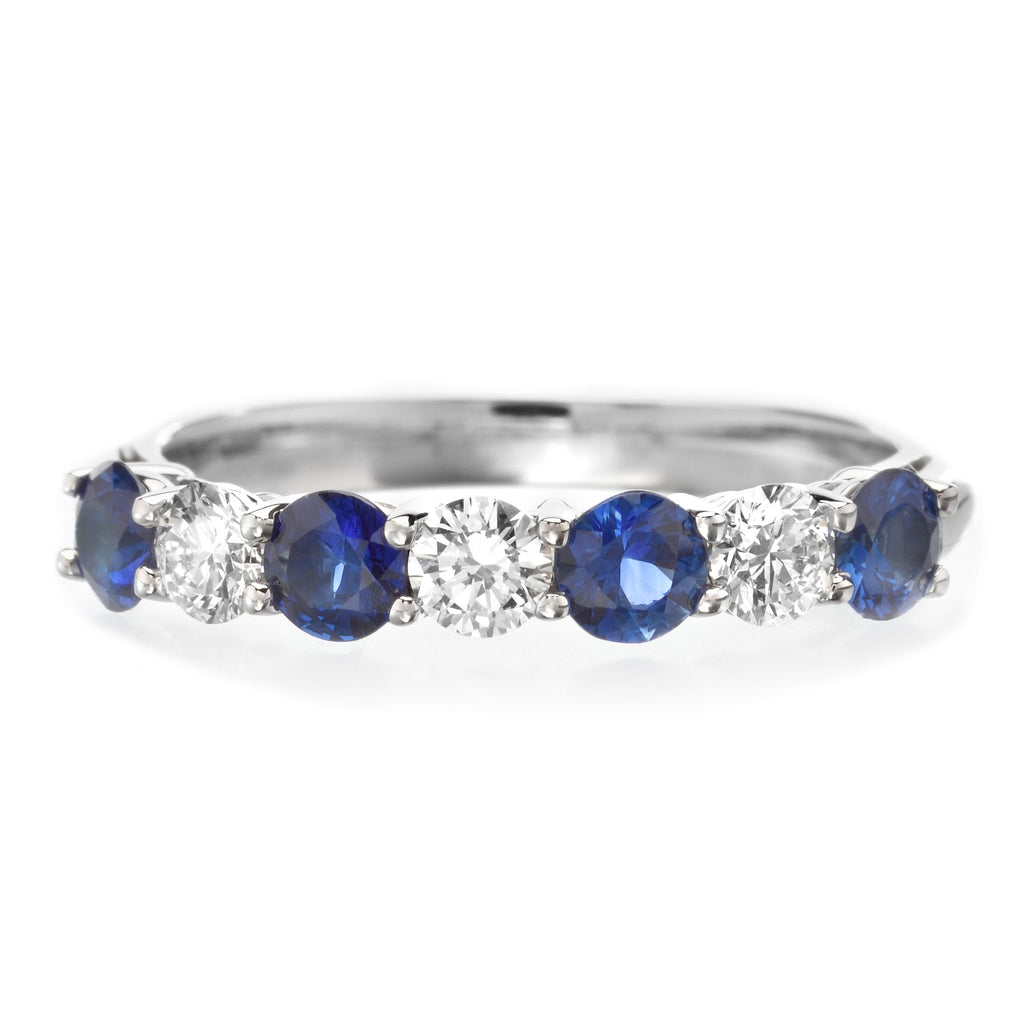 with cz bands sapphire anniversary silver baguette band sterling czs