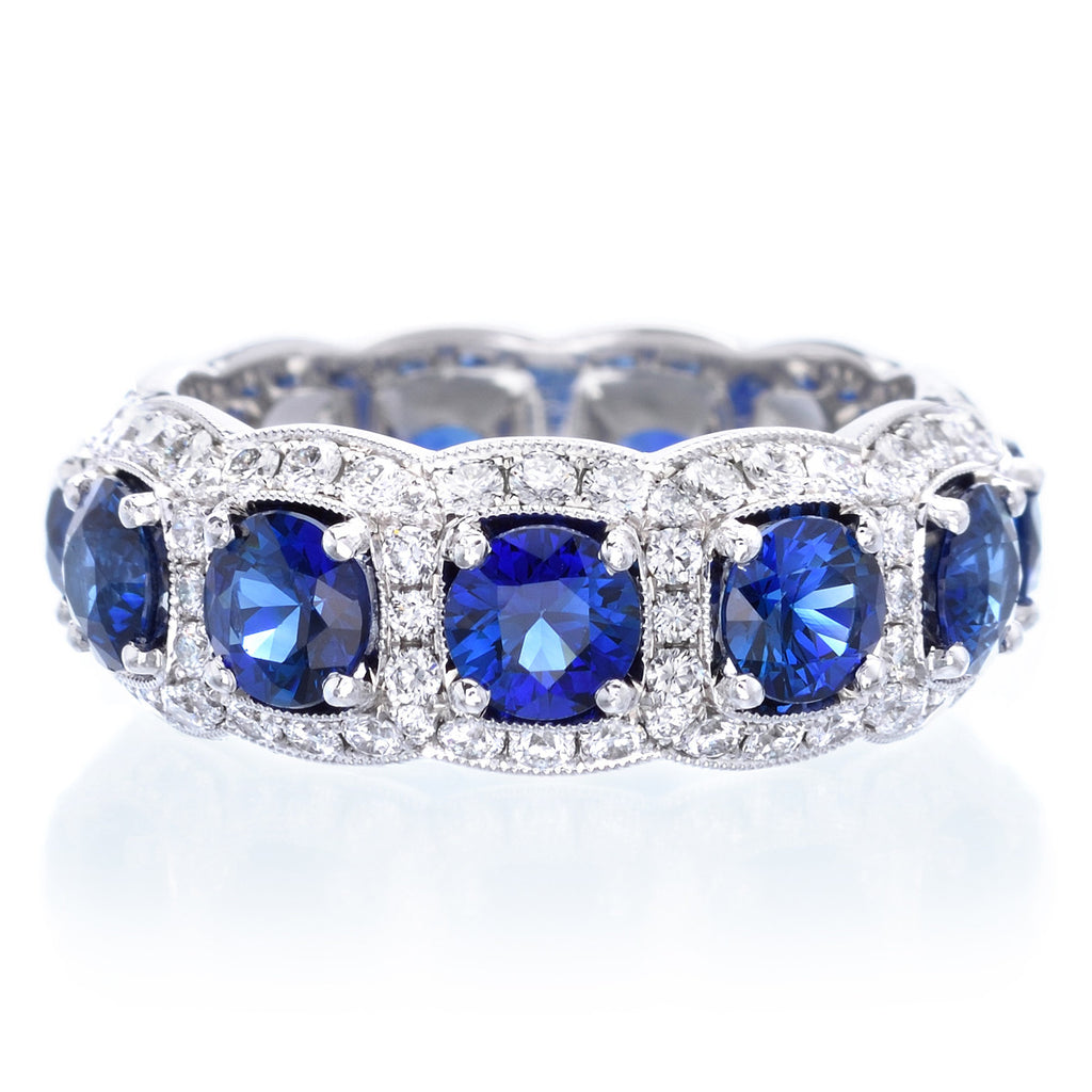 band anniversary gitter reuven bands diamond sapphire blue alternating product and eternity
