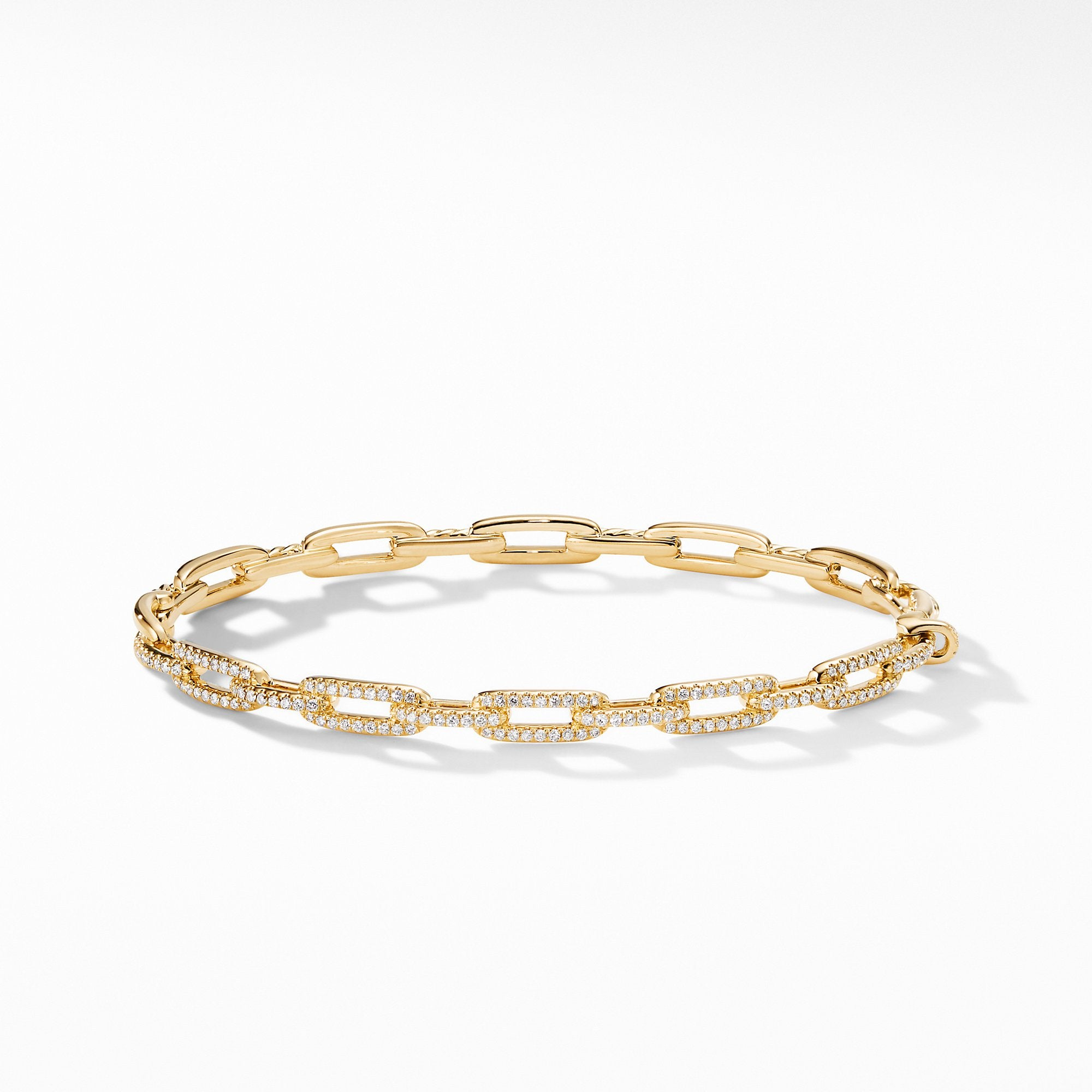Stax Chain Link Bracelet with Diamonds in 18K Gold