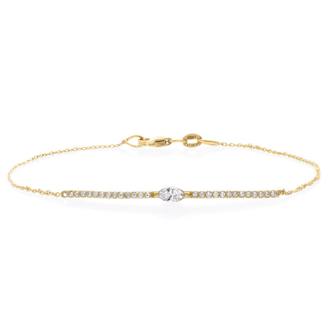 Masai 18K Small Single Station Diamond Bracelet in Yellow Gold
