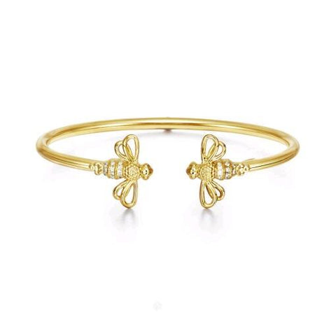 18K Yellow Gold Bee Bellina Bangle