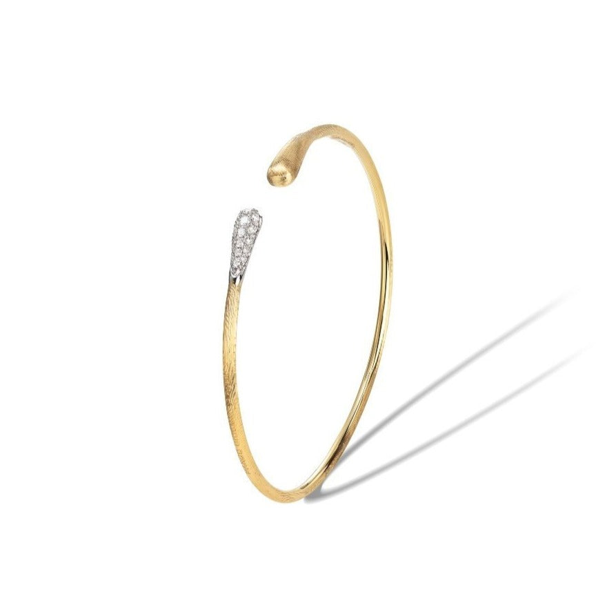 Lucia Collection 18K Yellow Gold and Diamond Kissing Cuff