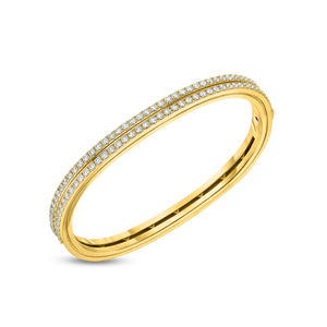 18K Yellow Gold Portofino Diamond Bangle