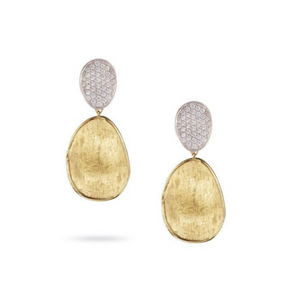 Lunaria 18K Yellow Gold & Diamond Pave Small Double Drop Earrings