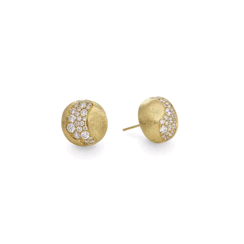 Africa 18K Yellow Gold Diamond Earrings