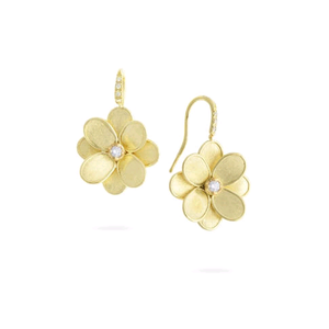 Petali 18K Yellow Gold Flower Earrings