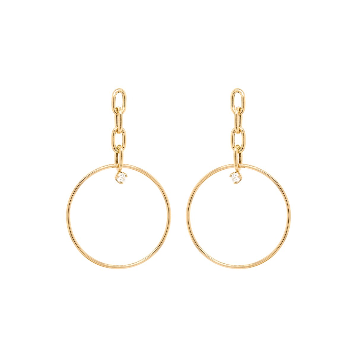 14K Yellow Gold Link Earrings