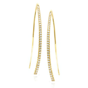 18K Yellow Gold Diamond Drop Earrings