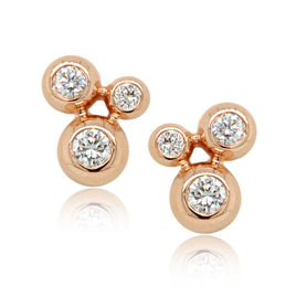 Lucia 18K Yellow Gold Link Stud Earrings