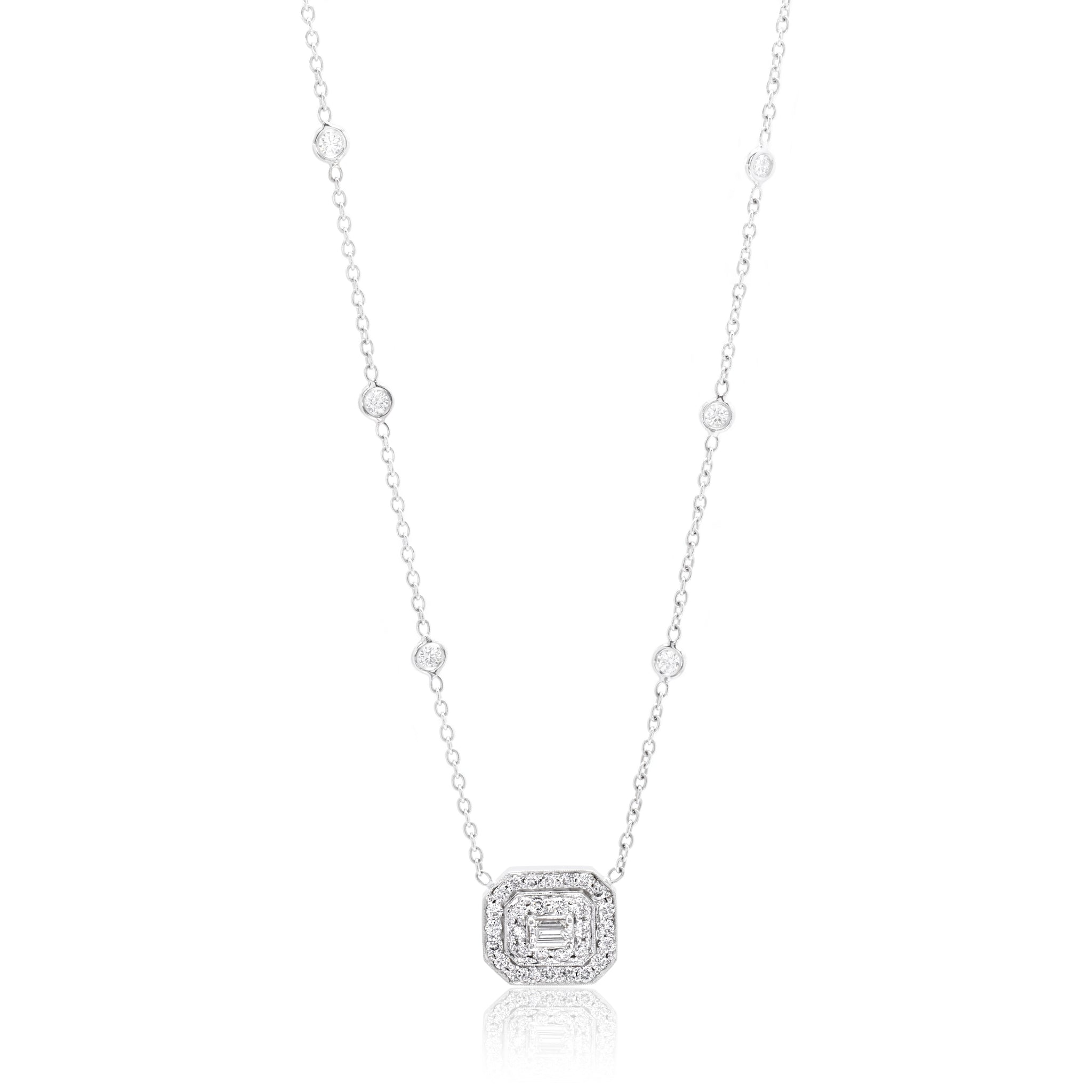 Penny Preville Double Row Emerald-Cut Diamond Pendant