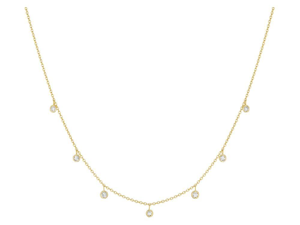 18K Yellow Gold Eyeglass Diamond Chain Necklace