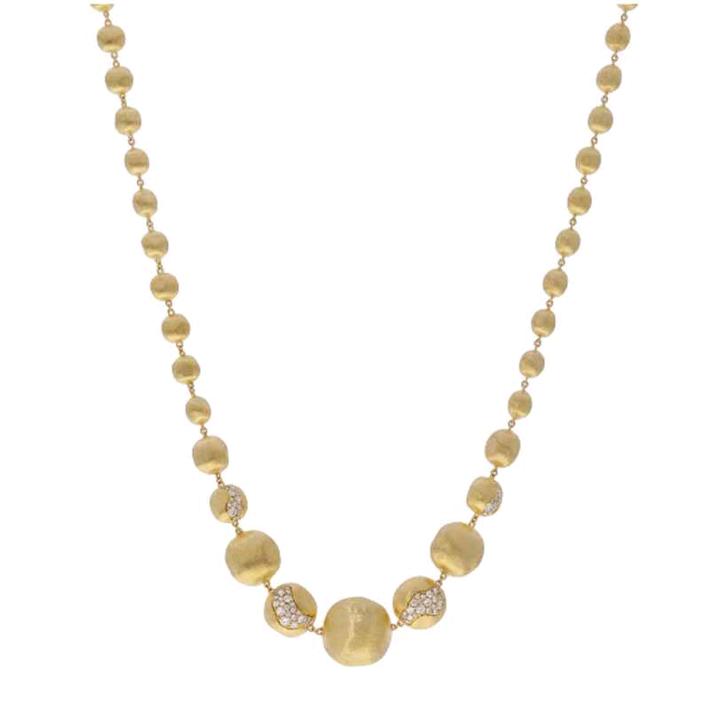 Africa 18K Yellow Gold Diamond Necklace