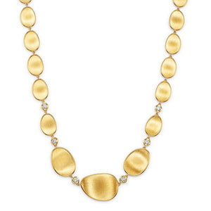 Lunaria 18K Yellow Gold Diamond Necklace